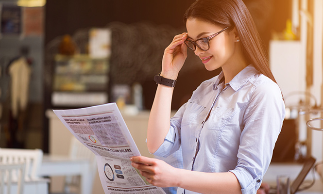 Some signs that you may need reading glasses